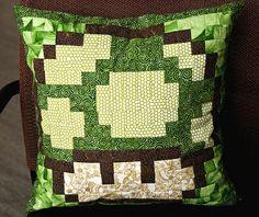 Mario Mushroom Quilt pillow