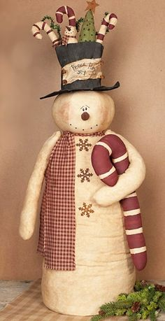 Primitive Snowman Doll - Whipplestreet Snowman by Honey and Me