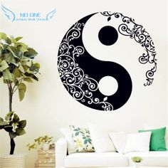 Quality Mandala Wall Sticker Home Decal Buddha Yin Yang Floral Yoga Meditation Vinyl Decal Wall Art Mural Home Decor Decoration with free worldwide shipping on AliExpress Mobile Wall Stickers Mandala, Wall Stickers Home, Mural Wall Art, Vinyl Wall Decals, Wall Paintings, Feng Shui, Decoration, Lotus, Wall Decor