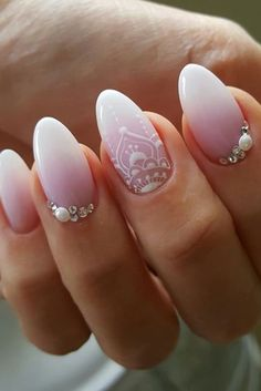 Outstanding Are you looking for wedding nails for bride? See our collection full of wedding nails for bride and get inspired! The post Are you looking for wedding nails for bride? See our collection full of wedding … appeared first on Nails . Simple Bridal Nails, Elegant Bridal Nails, Natural Wedding Nails, Natural Nails, Elegant Wedding, Elegant Nails, Perfect Wedding, Wedding Manicure, Wedding Nails For Bride