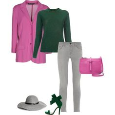 Yes, A cool summer can wear green. Green is considered a warm color but a cool summer's green has a little blue in it to cool it off.  I paired this green with a mauve pink from the cool summer color palette.  Have fun and wear what you love!  Jen Thoden   Download your coolsummer