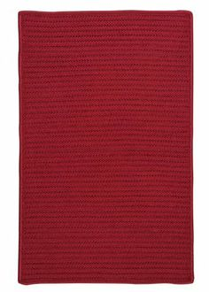 """Simply Home Solids Sangria Rug Rug Size: Runner 2' x 7' by Colonial Mills. $114.00. H578R024X084S Rug Size: Runner 2' x 7' Features: -Technique: Braided.-Material: 100pct Polypropylene.-Origin: USA.-Reversible.-Stain resistant.-Fade resistant. Construction: -Construction: Hand guided. Dimensions: -Pile height: 0.5"""".-Overall Dimensions: 34-168'' Height x 22-132'' Width x 0.5'' Depth. Collection: -Collection: Simply Home Solid."""