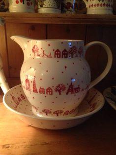 Emma Bridgewater Christmas Town Personalised 6 Pint Jug and Christmas Town Medium Dish 2013