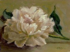 CINDY REVELL-WHIMSICALS AND STILL LIFE: Last Peony of the Season - Oil Painting