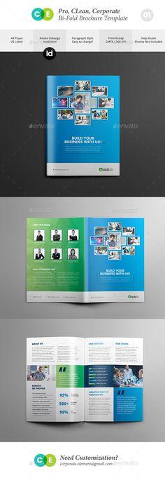 Clean Pro Bi-Fold Brochure Template V01