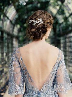 Romantic beaded lavender wedding dress: http://www.stylemepretty.com/little-black-book-blog/2016/02/17/elegant-and-ethereal-bridal-session/ | Photography: Laura Gordon - http://www.lauragordonphotography.com/