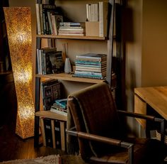 Unique Floor Lamps, Unique Lighting, Column Lights, Globe Lamps, Mood Light, Home Office Decor, Home Decor, Oysters, Light Fixtures