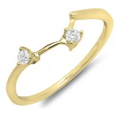 0.10 Carat (ctw) 10K Yellow Gold Round Diamond Ladies Anniversary Wedding Ring Matching Guard Band 1/10 CT. An outstanding collection of Diamond Jewelry at great prices from Dazzling Rock.