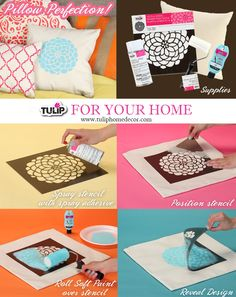 Tulip for Your Home pillow perfection