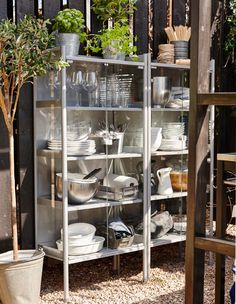 Set up a outdoor kitchen cabinet for barbecue season - no need to traipse back indoors for that extra plate! #IKEAIDEAS