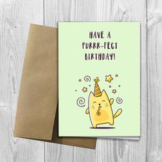 Big Birthday Cards, Creative Birthday Cards, Happy Birthday Mom, Cat Birthday, Birthday Greeting Cards, Birthday Greetings, Cat Cards, Kids Cards, Funny Cute Cats