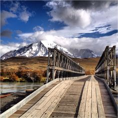 The road less traveled.   Chile Patagonie TorresDelPaine