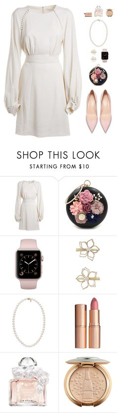 """""""wedding weekend."""" by tothineownselfbtrue ❤ liked on Polyvore featuring Chloé, WithChic, Monsoon, Charlotte Tilbury and Guerlain"""