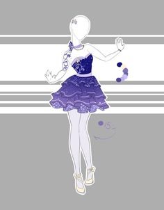 Sorry I'm so slow. I'm just so uninspired lately. I think I'm gonna start trying to do a couple of different things besides frilly sparkly dresses. I'm in the mood to design characterized stuff, ex...