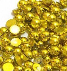 *Meia pérola Dourada metálico - 2mm -2 gramas