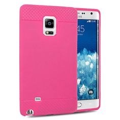 Pink Gel Soft Jelly Case Rubber Crystal Cover For Samsung Galaxy Note Edge  only 7.69$ free shipping to usa
