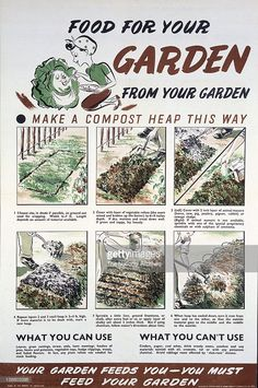 Food For Your Garden poster WWII