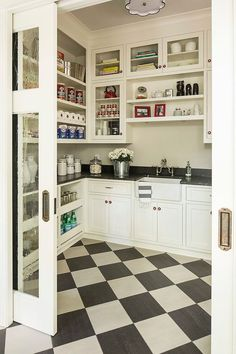 Check out these amazing pantries and butler's pantries for tons of inspiration and great ideas! Via Martha Ohara Interiors