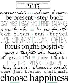 words of resolution