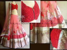 Anjali mahtani Beautiful red lengha