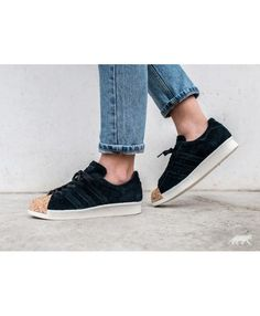 buy online 85b08 5cadd Adidas Australia Superstar 80S Cork Core Black Core Black Off White  Trainers Off White Trainers,