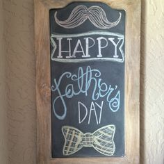Fathers Day chalkboard art