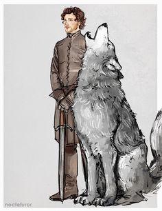 Robb Stark and Grey Wind Game Of Thrones Tumblr, Arte Game Of Thrones, Game Of Thrones Artwork, Game Of Thrones Funny, House Stark, Game Of Thones, Fire Art, Kids Party Games, Daenerys Targaryen