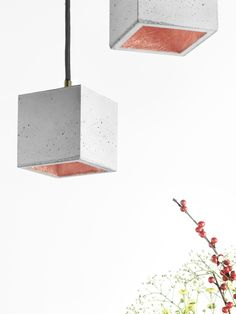 GANT have created a set of cute #pendant #lights which are made out of concrete. These lights can create a great contrast with your home interiors.