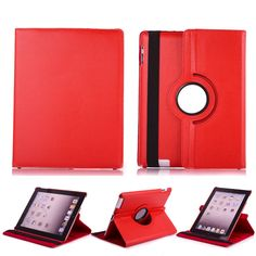 360 Degree Leather Rotating Stand Smart Cover Rotate Swivel Case For Apple iPad Air 2