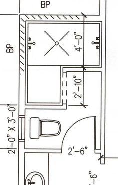 walk in shower floor plan