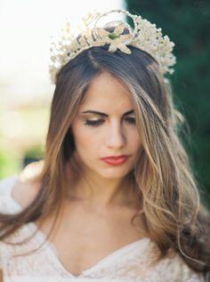 Antique Wax Flower Crown