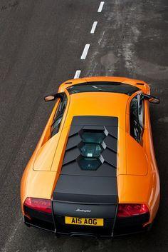 Visit The MACHINE Shop Café... ❤ The Best of Lamborghini... ❤ (Orange Murciélago SV Coupé)