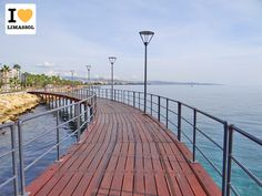 Taken today on the new sea bridge at #Molos, our #Limassol just gets better and better! www.ilovelimassol.com/blog. #Cyprus.