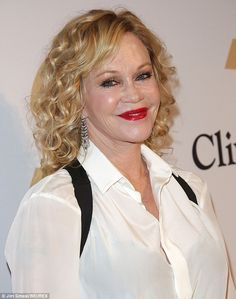 She looks like she's melting - MELANIE GRIFFITH:With her plump cheeks and smooth lips, she hardly looks real...
