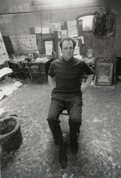 """Frank Auerbach in his studio. 30april artist #FrankAuerbach, #BornOnThisDay in 1931.  """"I'm hoping to make a new thing for the world that remains in the mind like a new species of living thing."""" - https://plus.google.com/u/0/+SaatchiGallery/posts"""