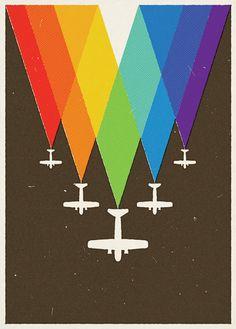 #rainbow #plane