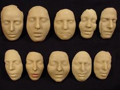 Group of Beeswax Death Masks