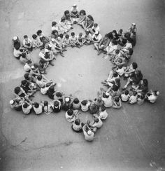 Child Survivors of Buchenwald Form a Star of David, 1946 In your face NAZIS!