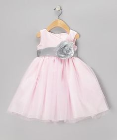 Take a look at this Pink & Silver Flower Dress - Toddler & Girls by Sweá Pea & Lilli on #zulily today!