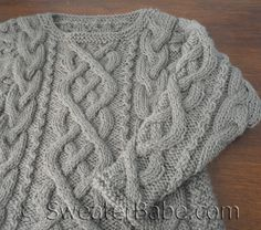 PDF Knitting Pattern for Sweet Hooded Lace Vest from SweaterBabe.com