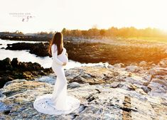 Long Sleeve Maternity Dress, Maternity Gowns, Maternity Session, White Gowns, Baby Bumps, Pregnancy, Ann, Photoshoot, Beach
