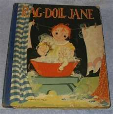 Rag Doll Jane Fern Bisel Peat 1930 Saalfield Children's Book --- Clicking image takes you to Bonanza Listing, NOW SOLD Old Children's Books, Vintage Children's Books, Antique Books, Vintage Dolls, Vintage Postcards, Make Do And Mend, Beautiful Book Covers, Vintage Holiday, Children's Book Illustration