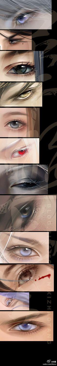 eyes, anime,