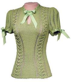 Zelda Vintage Pullover Knitting Pattern-PDF
