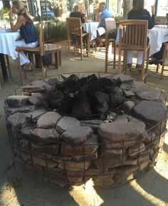 simple gabion fire pit http://www.gabion1.com