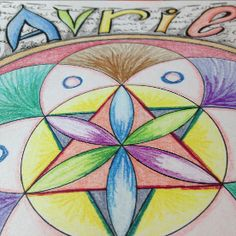 Calendrier Mandala Avril 2015