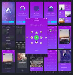 AON A pack of 3 beautiful iOS app templates