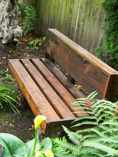 diy garden bench, i like it to divide the garden from the linoleum floor.. paired with some planters maybe