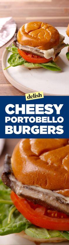 Cheesy portobello burgers are so good, even meat lovers will devour them. Get…