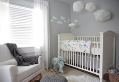 See our closet to nursery transformation for blogger Laura Adney of Have Need Want! This gender-neutral nursery is adorable!
